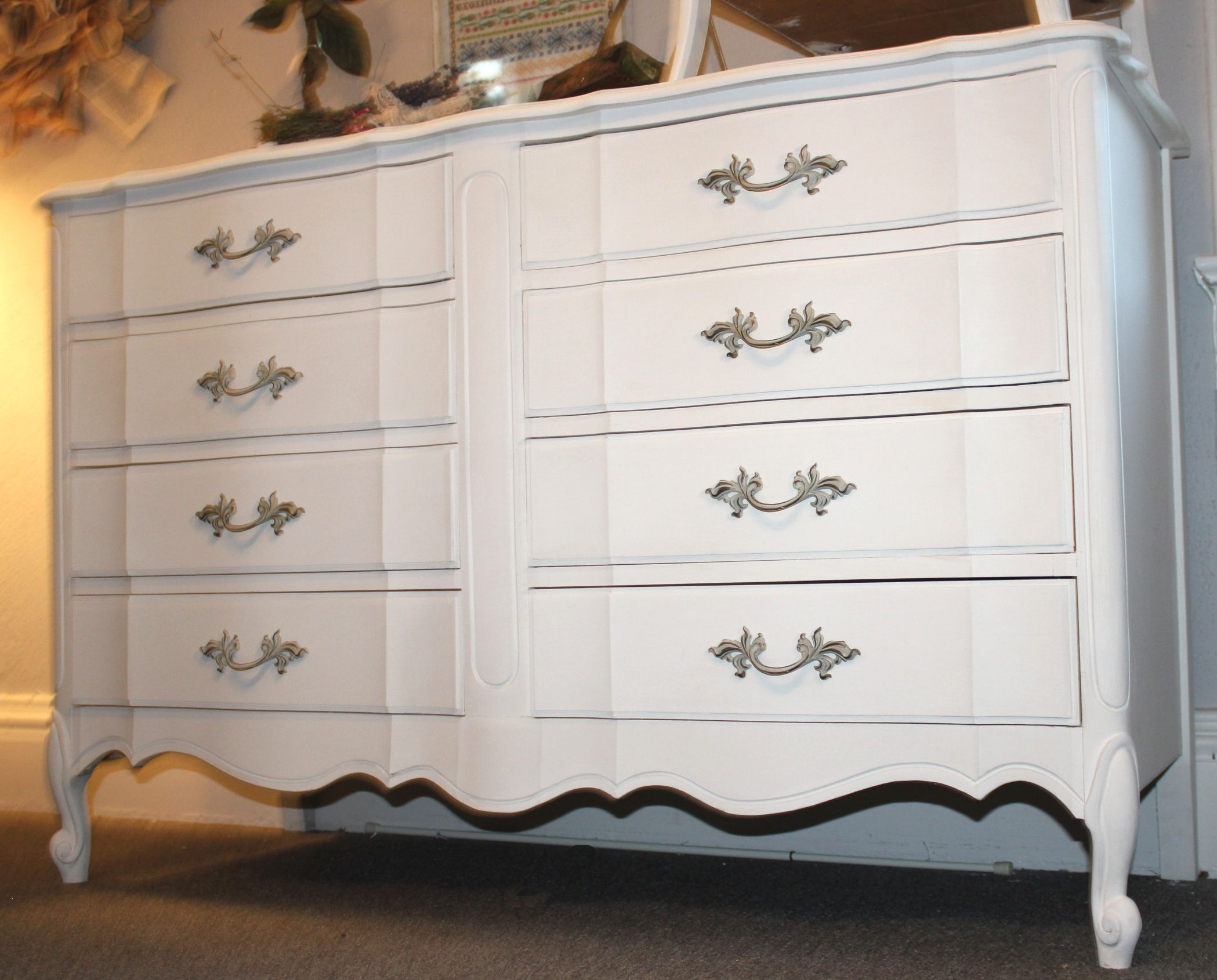 Old White Annie Sloan Painted Dressers Shabby Chic Dresser With Paint