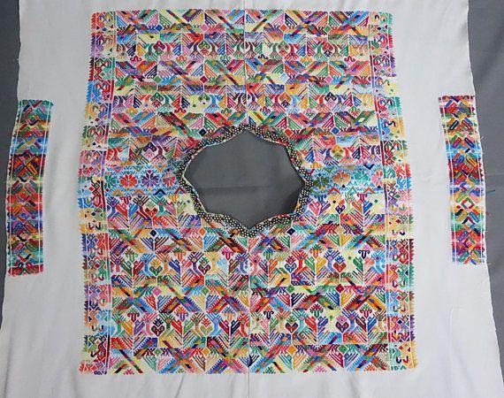 Maya Women\'s Vintage Geometric Huipil from Nahuala | Telas | Pinterest