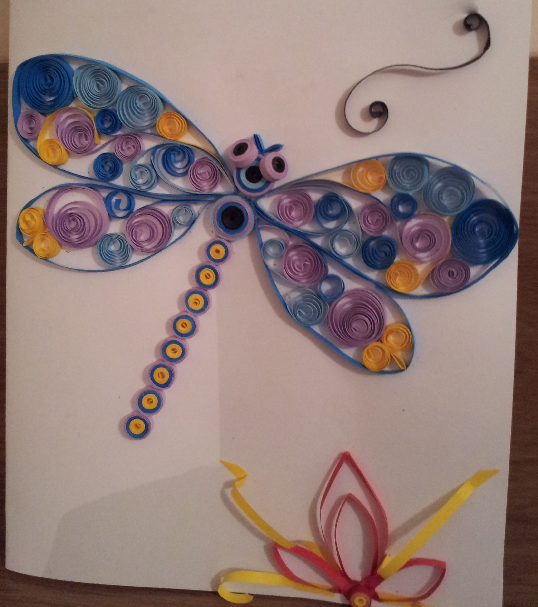 Quilled dragonfly card which i made for my daughters birthday and quilled dragonfly card which i made for my daughters birthday and which i intend on jeuxipadfo Gallery