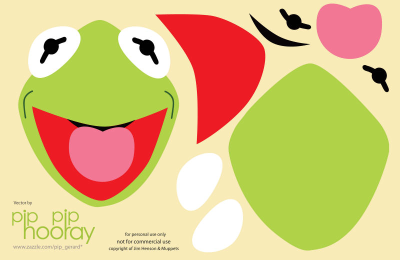 kermit the frog template printable papercrafts pinterest party