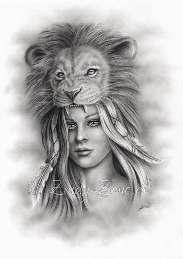 A Drawing From Early Spring It Was The First Drawing In The Girl With Her Spirit Animal Series It Was Done For A Tattoo Emo Art Native Indian Cheetah Drawing