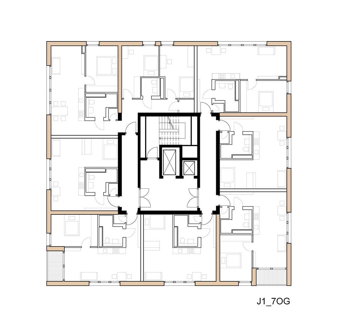 Gallery Of Skaio Wooden Apartment Building Kaden Lager 21 Apartment Building Timber Frame Construction Wooden Buildings