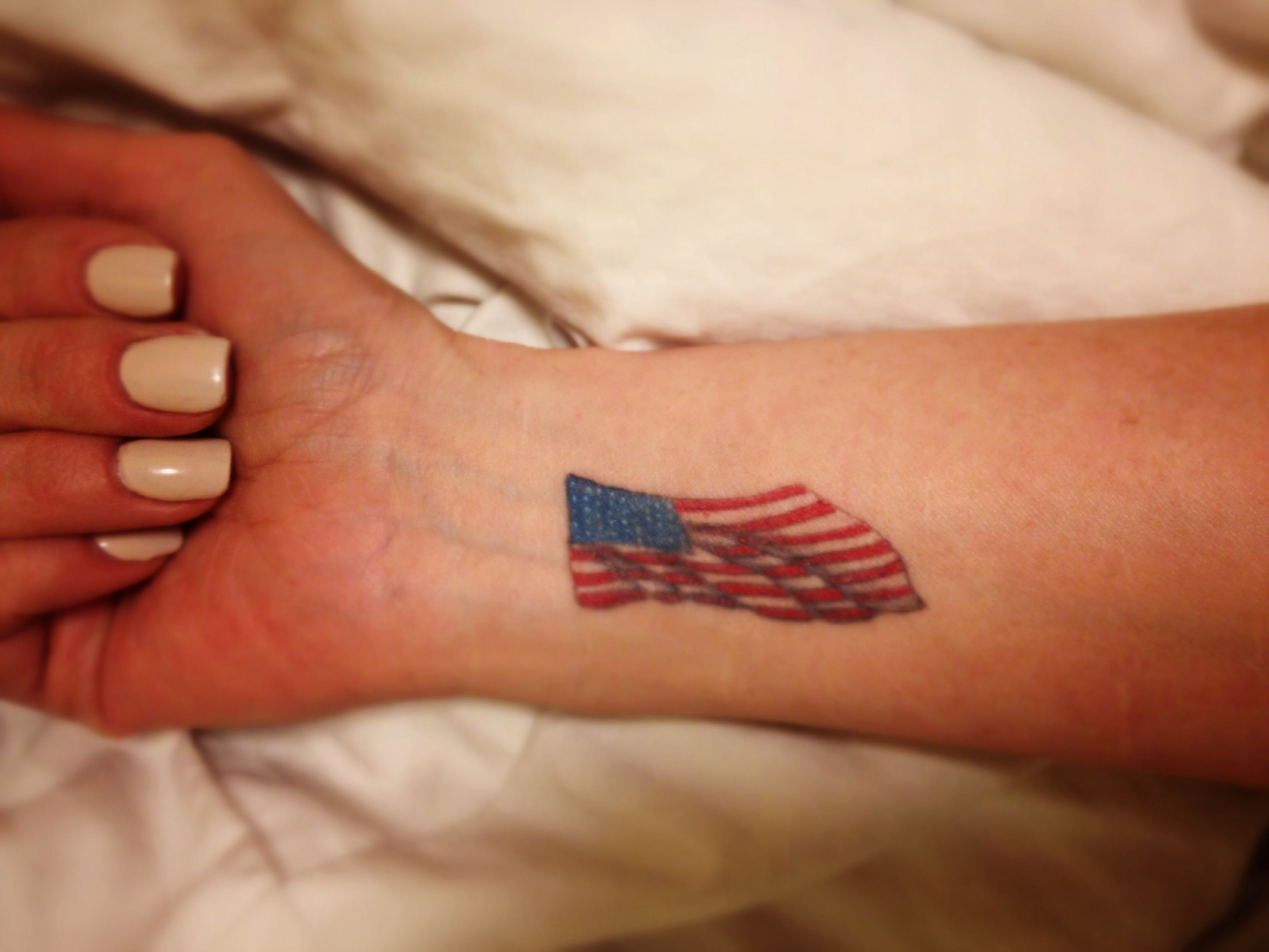 American Flag Wrist Tattoo Patriotic Tattoos American Flag