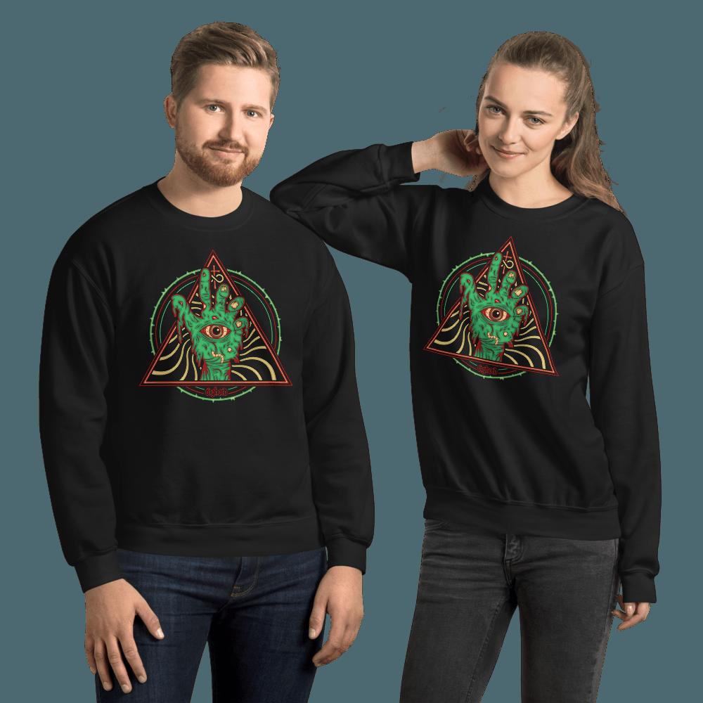 Cosmic Zombie | Unisex Sweatshirt - Black / 2XL