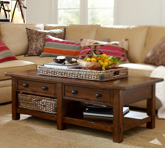 Benchwright Rectangular Coffee Table Rustic Mahogany Home Sweet - Pottery barn benchwright end table