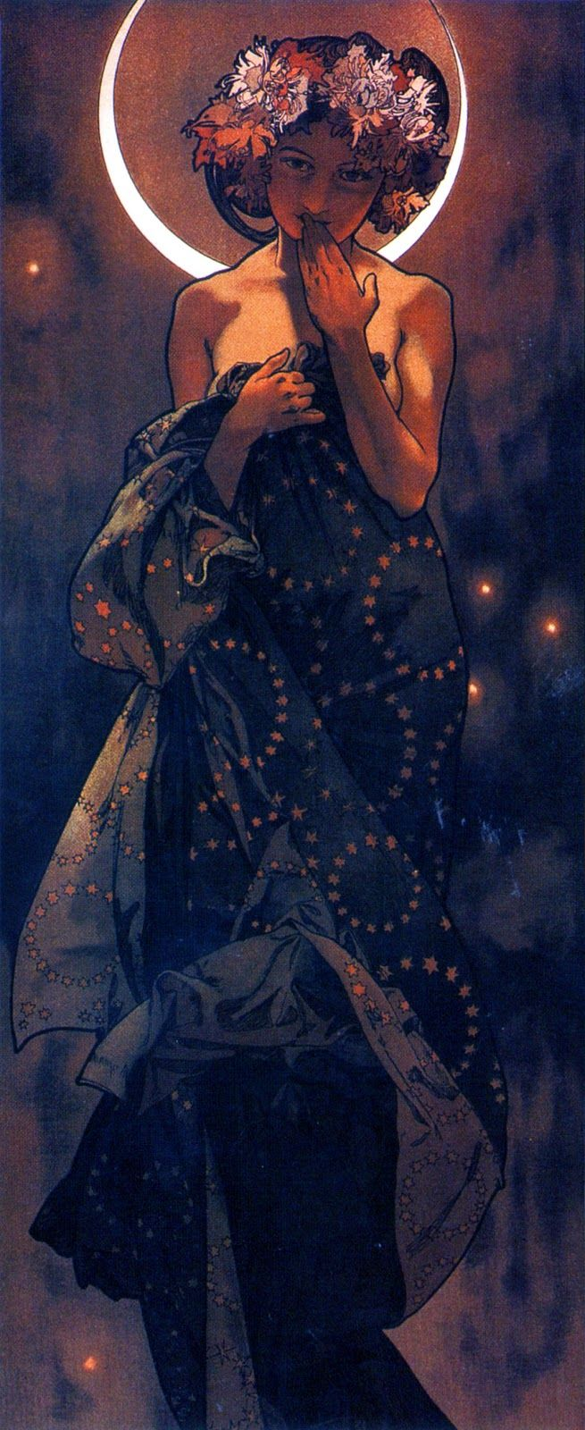 The Moon & Stars by Alphonse Mucha, 1902.