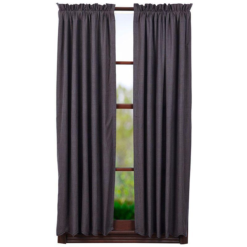 Arlington Lined Scalloped Short Curtain Panels 63 X 36 Panel