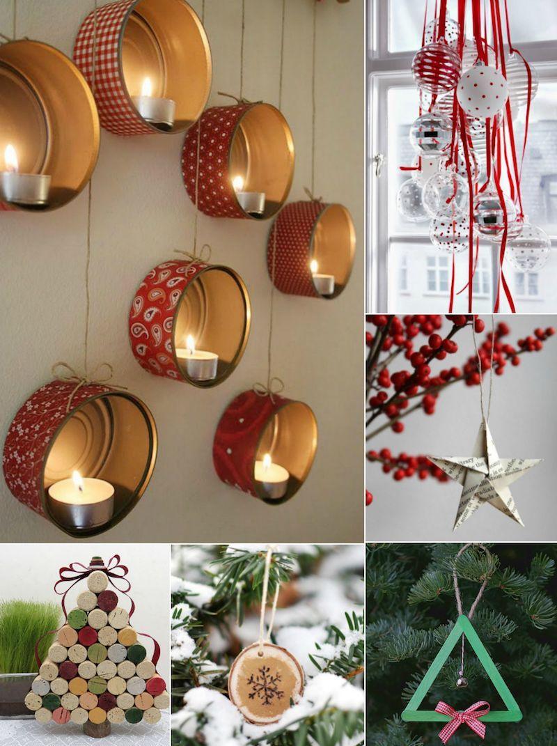 Décoration de Noël à faire soi-même - des idées DIY faciles et pas