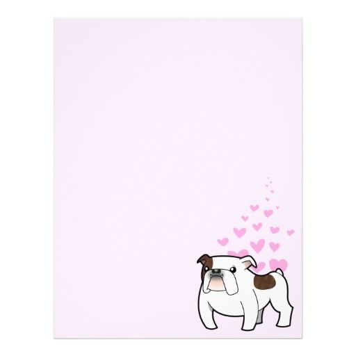 Bulldog Love (brindle splash) Letterhead Design