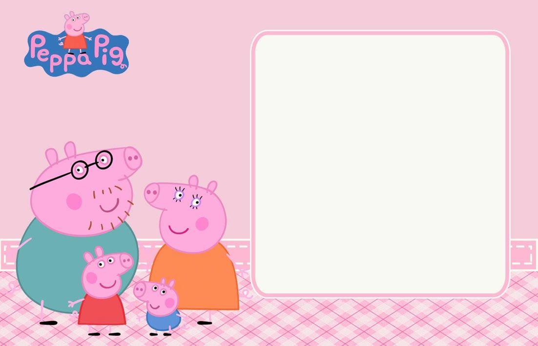 Convite Peppa Pig Prontos Para Editar E Imprimir Convite