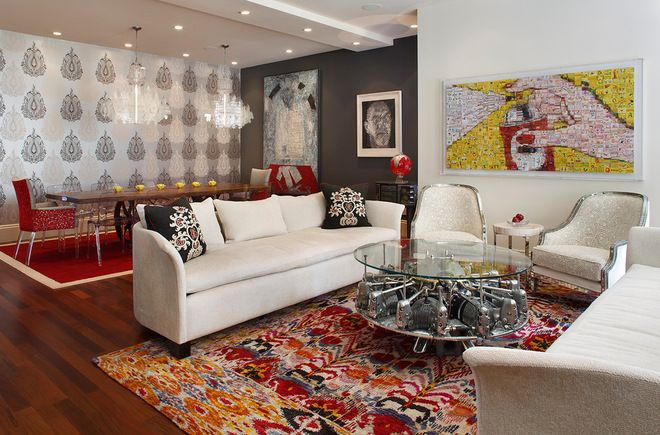 Rolled back 3 times, guess I need to pin it. contemporary living room by Artistic Designs for Living, Tineke Triggs