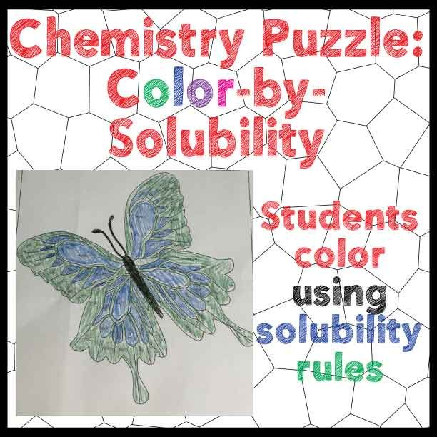 Scribble Drawing Crossword Clue : Chemistry puzzle color by solubility rules fun activity