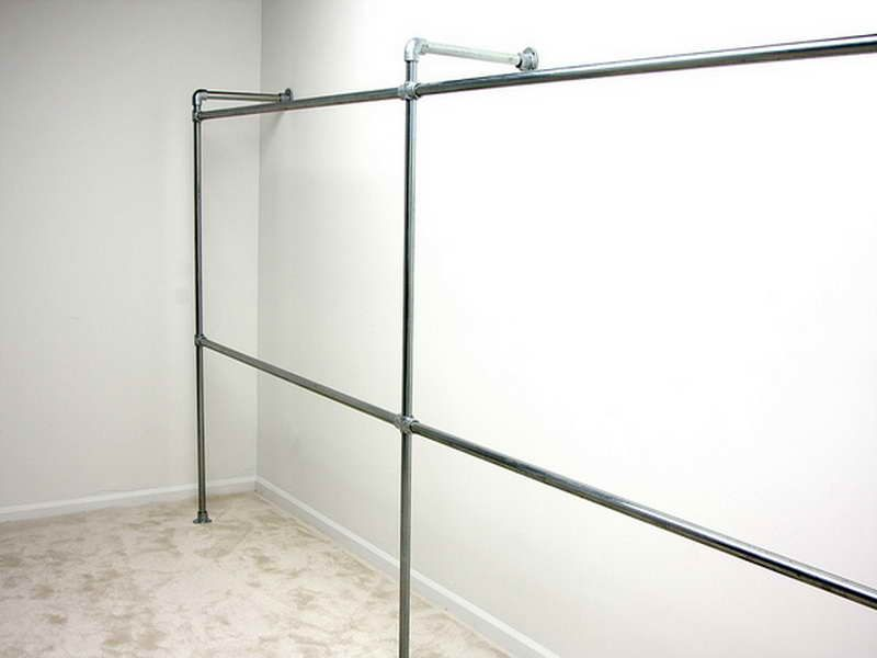 Planning IdeasDurable Galvanized Pipe Clothes Rack Galvanized Interesting Diy Coat Rack Pipe