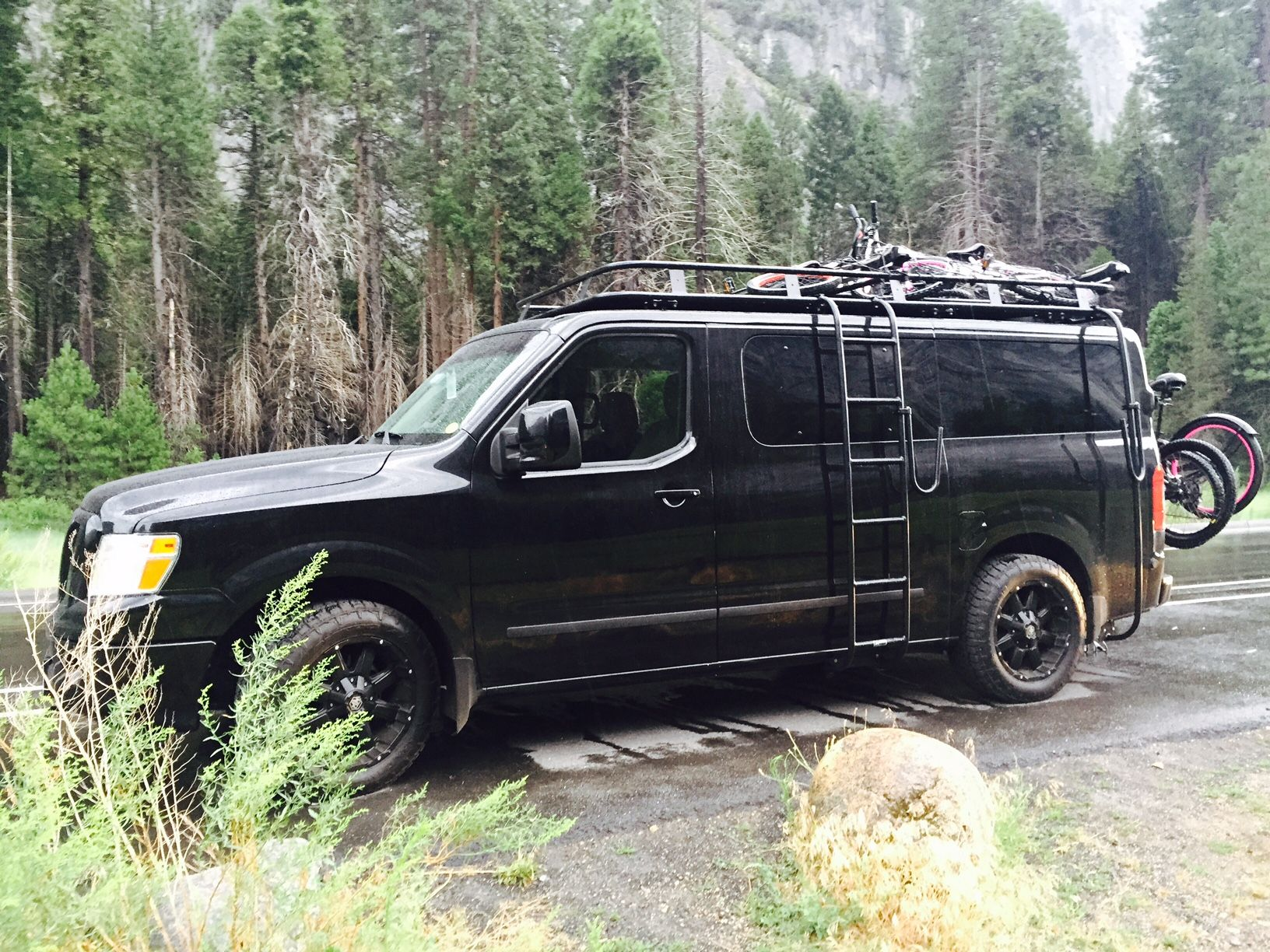 Nissan Nv With Aluminess Roof Rack And Ladder Photo Cred