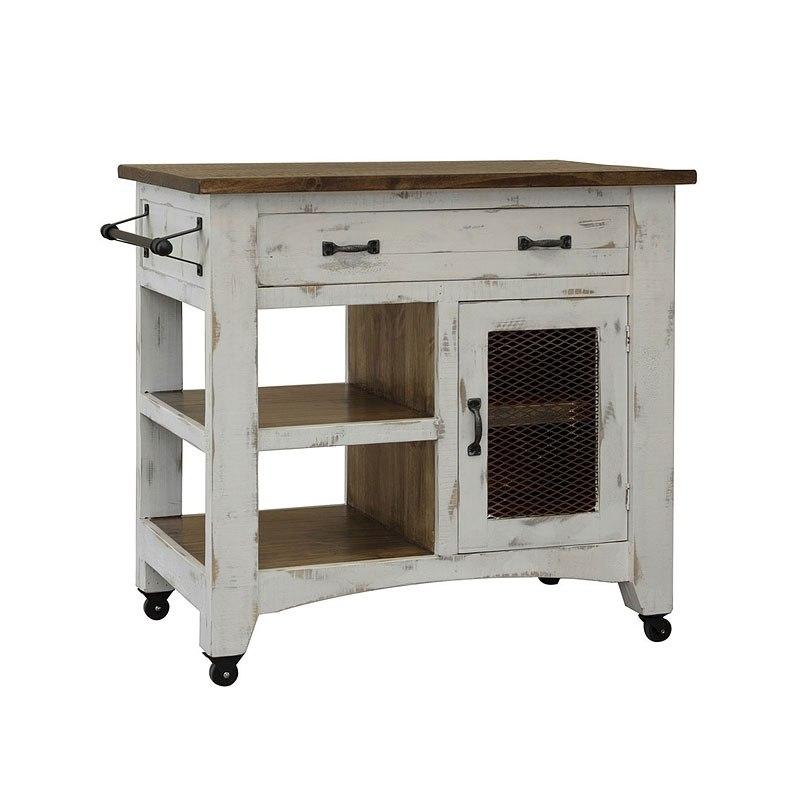 Pueblo 35 Inch Kitchen Island White Solid Wood Kitchens White Kitchen Island Homemakers Furniture
