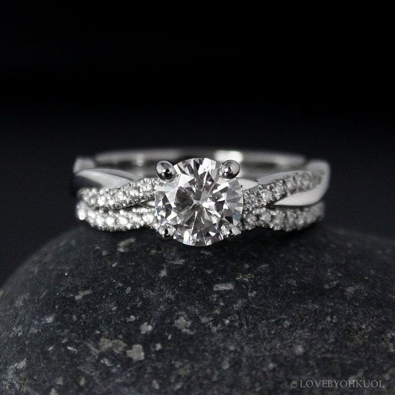 Reserved for M Engagement Ring Setting Twisted Vine Band Micro