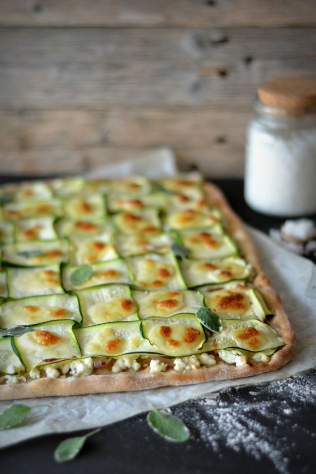 Zucchini and Cottage Cheese Pizza