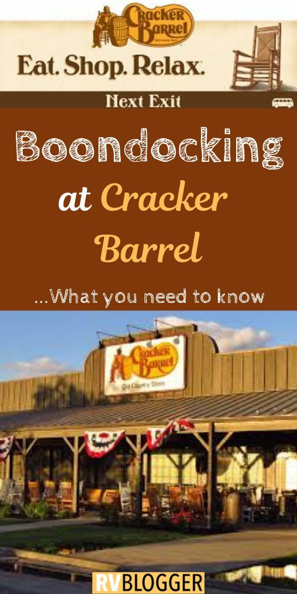 Can RVs Park Overnight at Cracker Barrel Rv camping