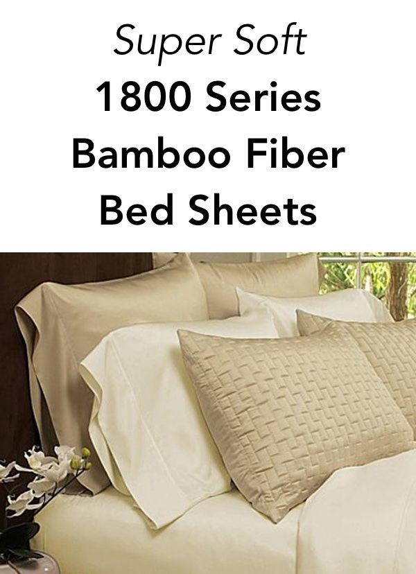 This 4 Piece Set Of Super Soft 1800 Series Bamboo Fiber Bed Sheets Will Keep