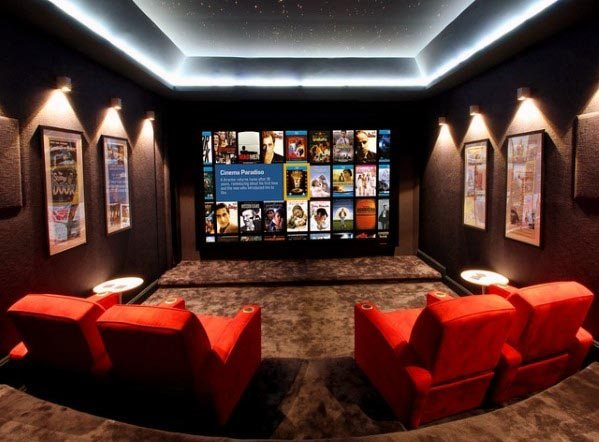 Top 40 Best Home Theater Lighting Ideas Illuminated Ceilings And Walls In 2020 Home Theater Lighting Home Cinema Room Home Theater Rooms
