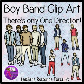 Boy band clip art of one direction great for teaching resources to boy band clip art of one direction great for teaching resources to get your students really engaged voltagebd Choice Image