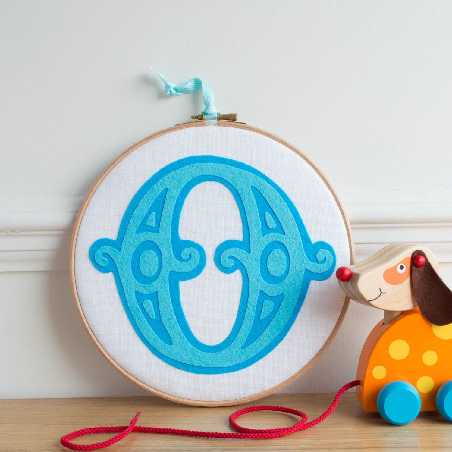 Circus Letter Embroidery Hoop by rachelandgeorge on Etsy
