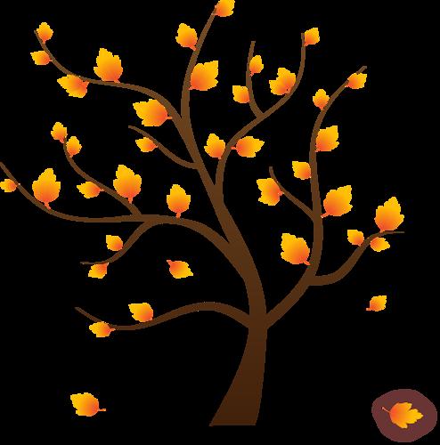 картинка дерева с опавшими листьями связи
