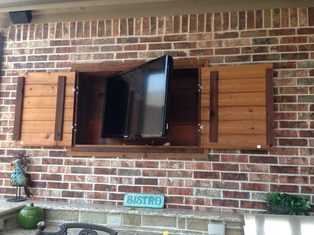 Image result for outdoor tv cabinet | Back Patio and Deck ...