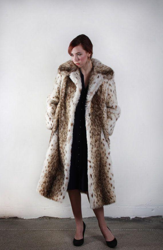 Vintage Faux Fur Coat  . 1970s Boho . Brown Tan by VeraVague, $165.00