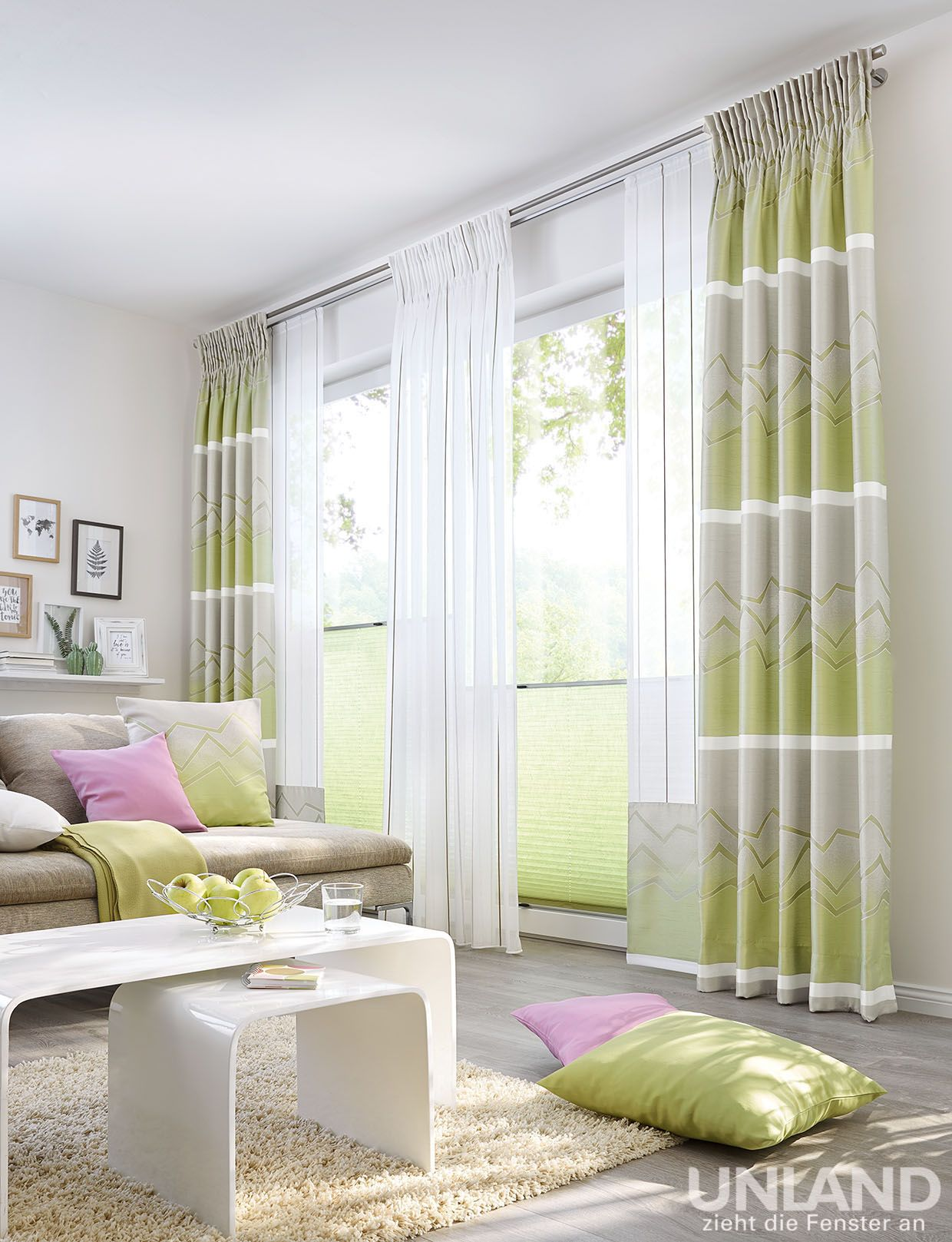 Unland Zeno Greenery 001 Vorhang Fensterideen Gardinen Und Sonnenschutz Curtains Contract Fabrics Gardinen Wohnzimmer Vorhänge Gardinen Gardinen Ideen