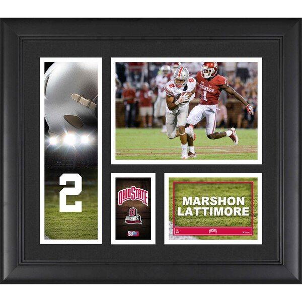 Marshon Lattimore Ohio State Buckeyes Fanatics Authentic Framed 15 x 17 Player Collage #OhioStateBuckeyes #ohiostatebuckeyes