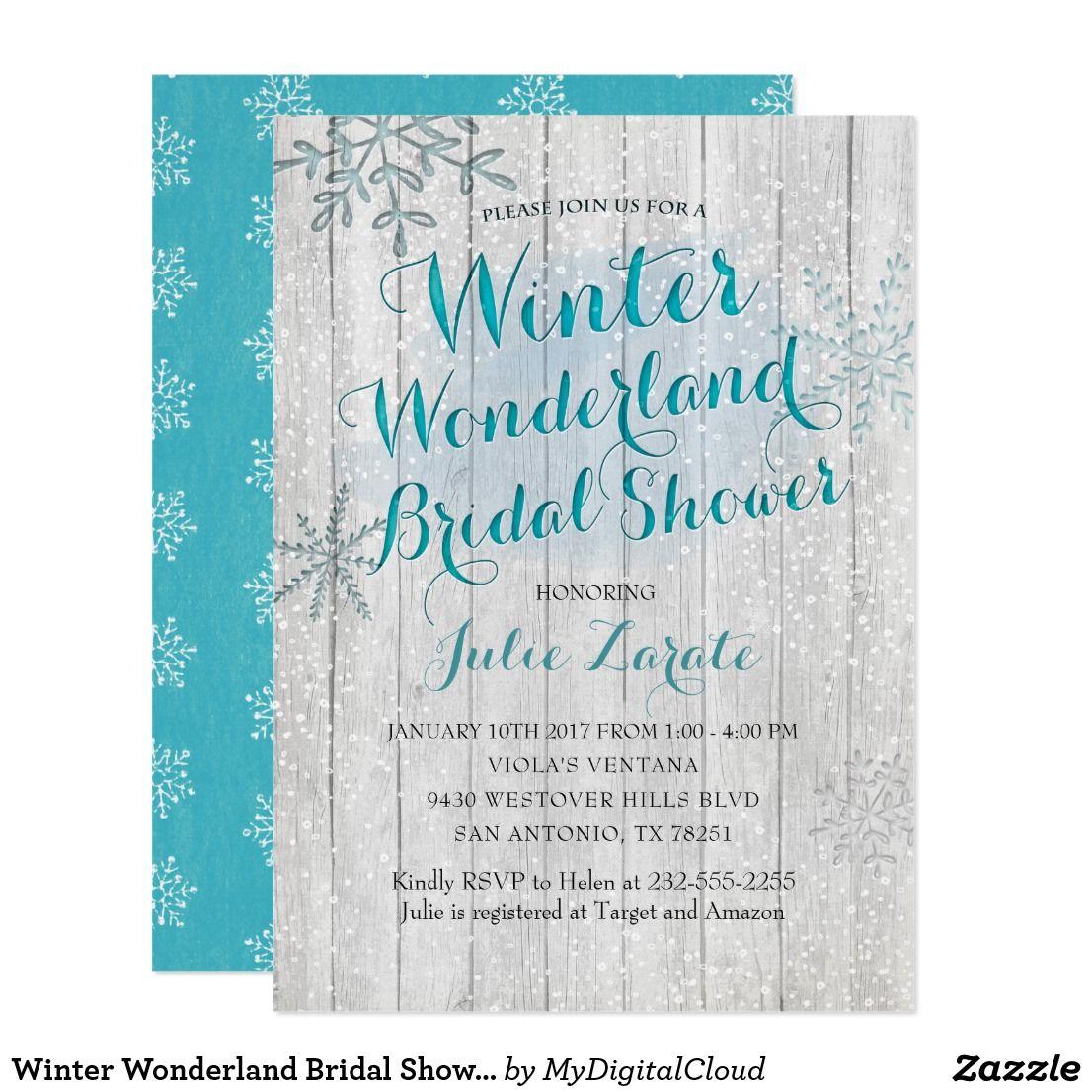 Winter Wonderland Invitations Bridal Shower | www.topsimages.com