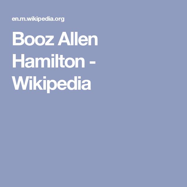 Booz Allen Hamilton Wikipedia Hamilton Wikipedia