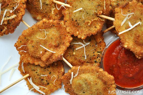 Deep-Fried Ravioli On a Stick Recipe