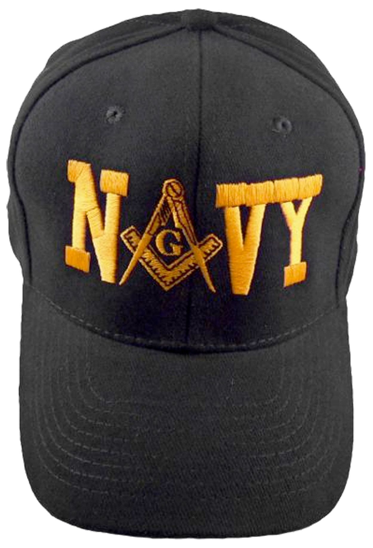 d20b0cc38 U.S. NAVY Black Masonic Baseball Cap Mason Logo Hat for Freemasons Shriners  Prince Hall Masons Headwear