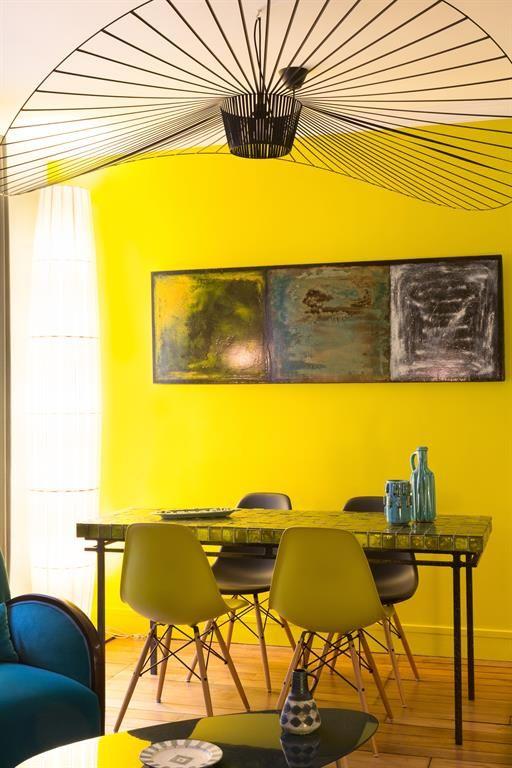 Exemple déco salle à manger jaune idées deco Pinterest