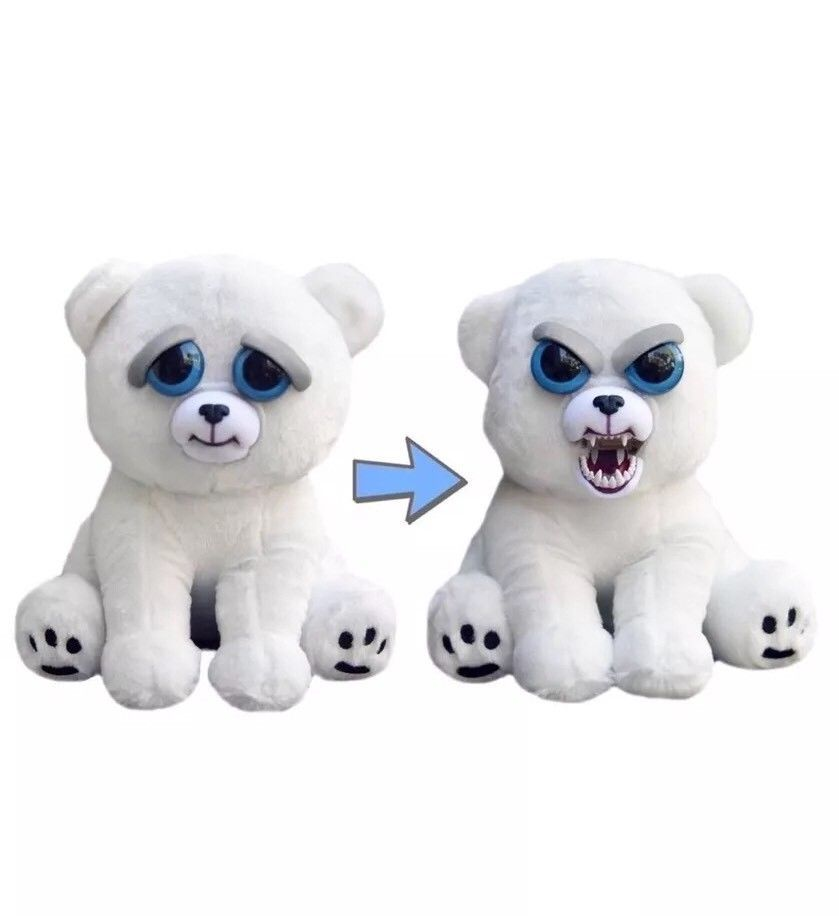 Feisty Pets Karl The Snarl Polar Bear 8 5 Plush Turns Feisty With Squeeze Ebay With Images Polar Bear Plush Funny Toys Animal Plush Toys
