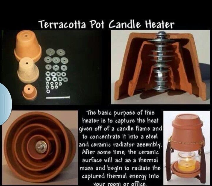 Diy Heater With Terracotta Pots...simple..I'm Thinking Ice