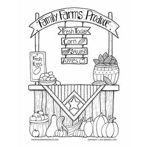 Family Farms Produce Coloring Page Thanksgiving Coloring Pages Coloring Pages Farm Coloring Pages