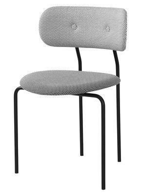 Chaise rembourrée Coco / Tissu Tissu noir & blanc - Gubi ...