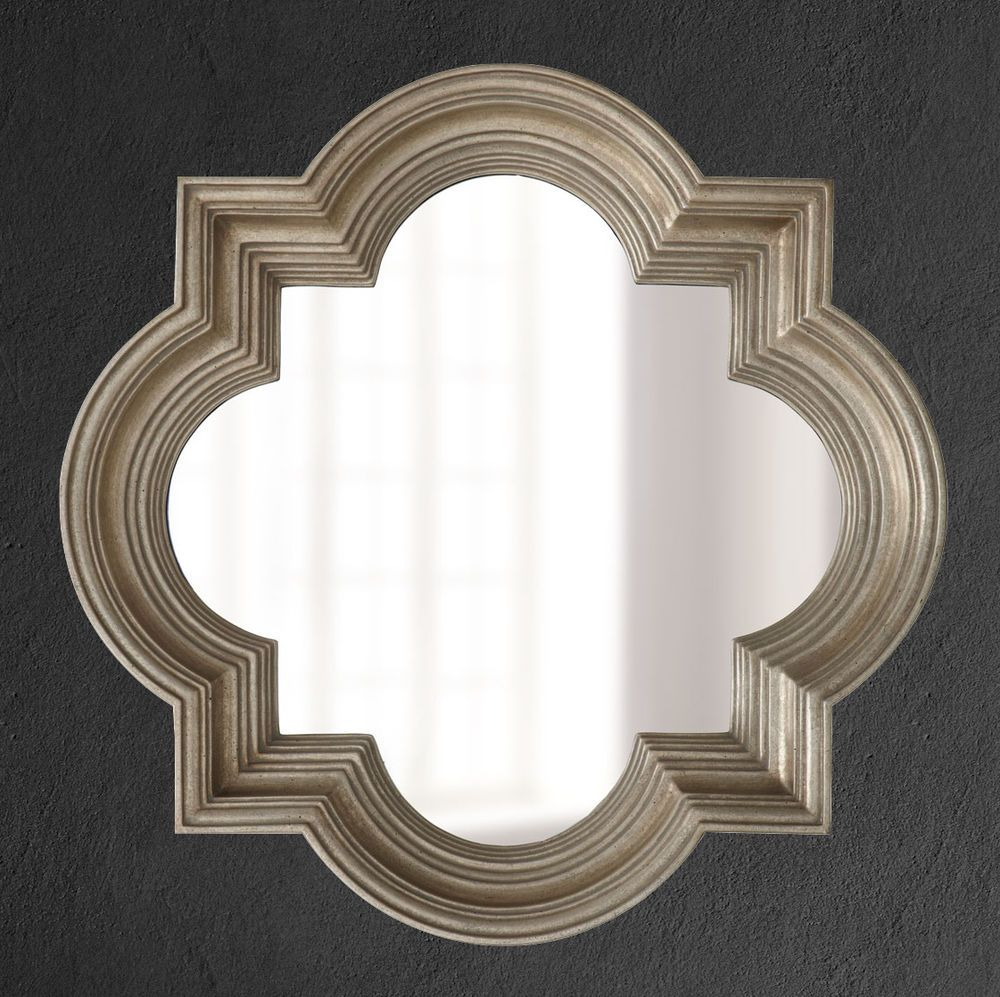 New Tuscan 30 Silver Glass Wall Mirror Mantle Bathroom Vanity French Quatrefoil Mirror Wall Glass Wall Unique Dining Room