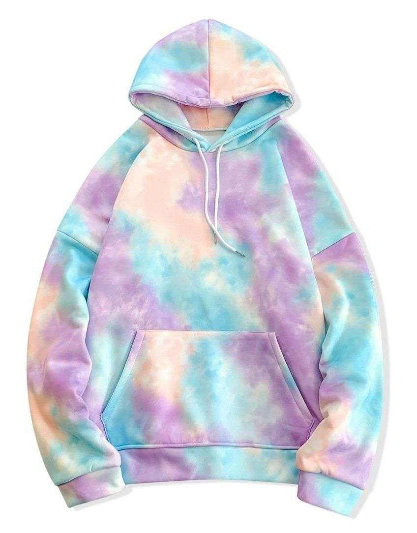 Tie Dye Pullover Fleece Drawstring Hoodie Blue Multi B Multi C Multi D Multi E Tye Dye Sweatshirt Hoodie T Tie Dye Outfits Tie Dye Fashion Tie Dye Hoodie [ 1084 x 848 Pixel ]