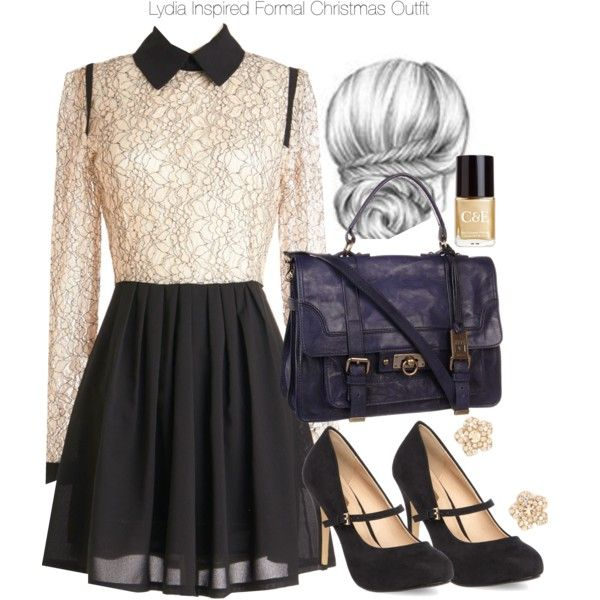 lydia inspired formal christmas outfit fashionista pinterest tenue accesoire et style. Black Bedroom Furniture Sets. Home Design Ideas