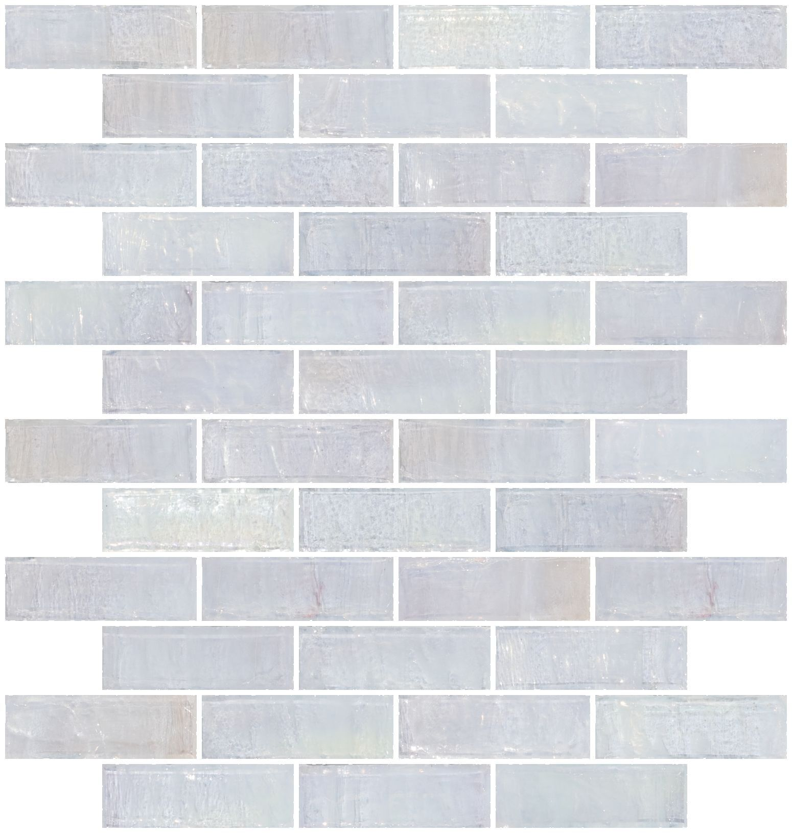 1x3 Inch Icy White Iridescent Gl Subway Tile