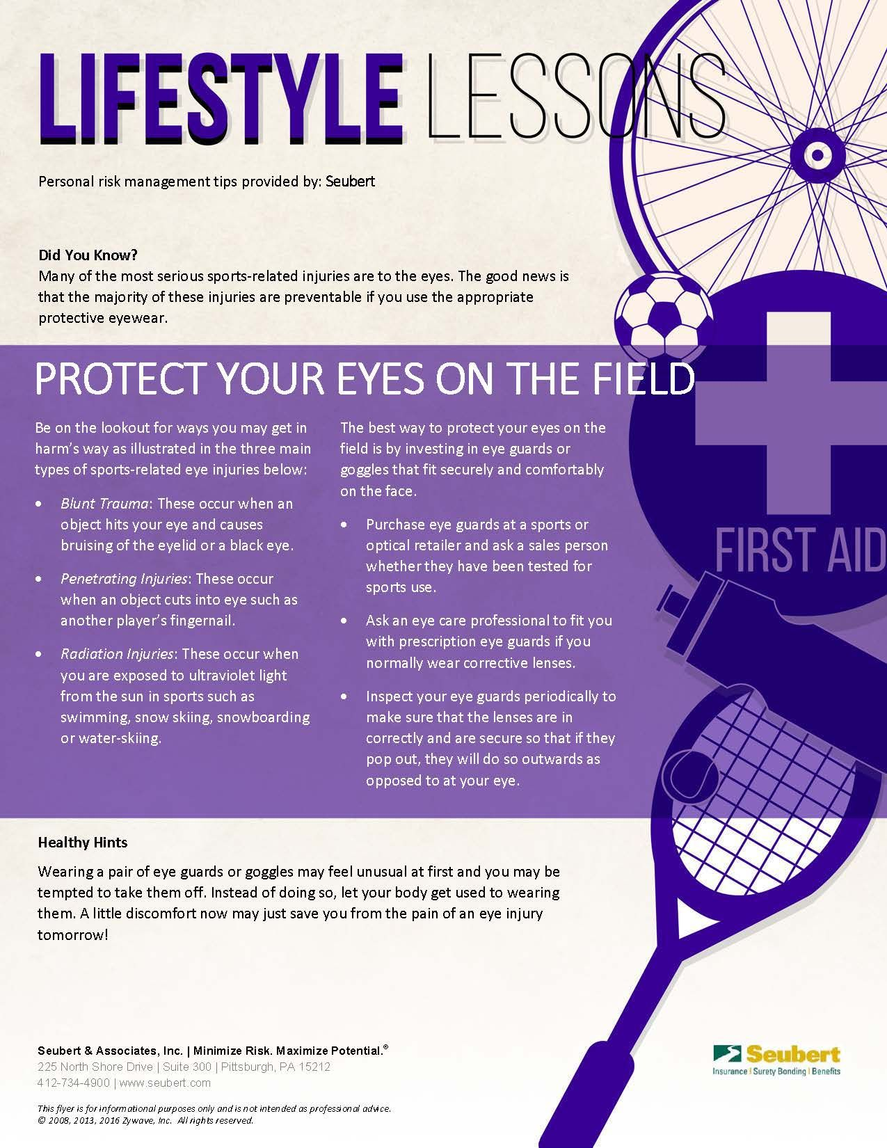 Lifestyle Lessons: Protect Your Eyes on the Field