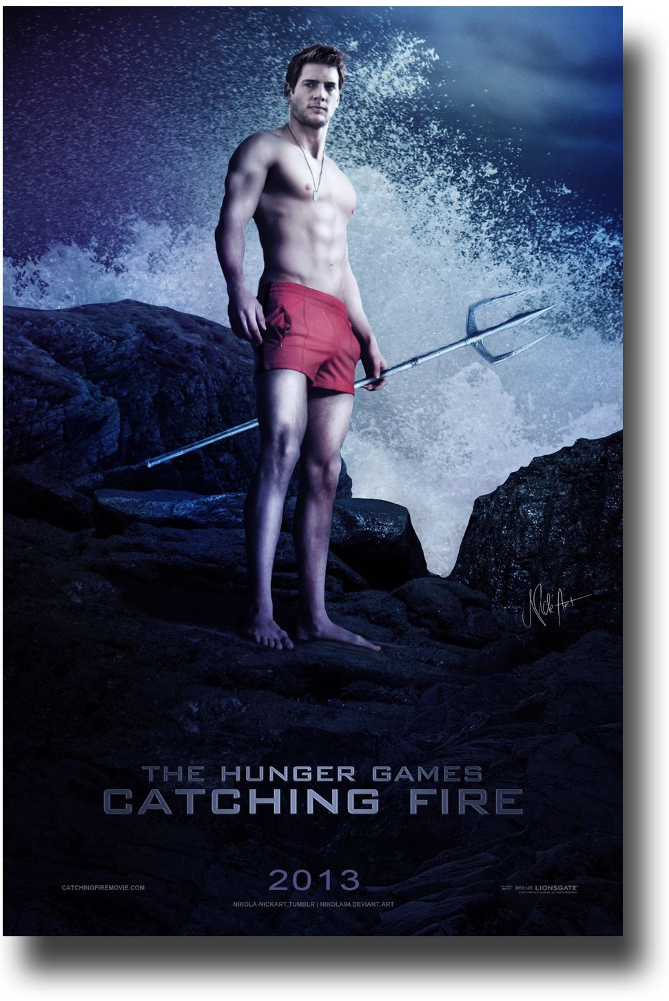 Catching Fire Poster - Hunger Games 2013 Promo Flyer ...