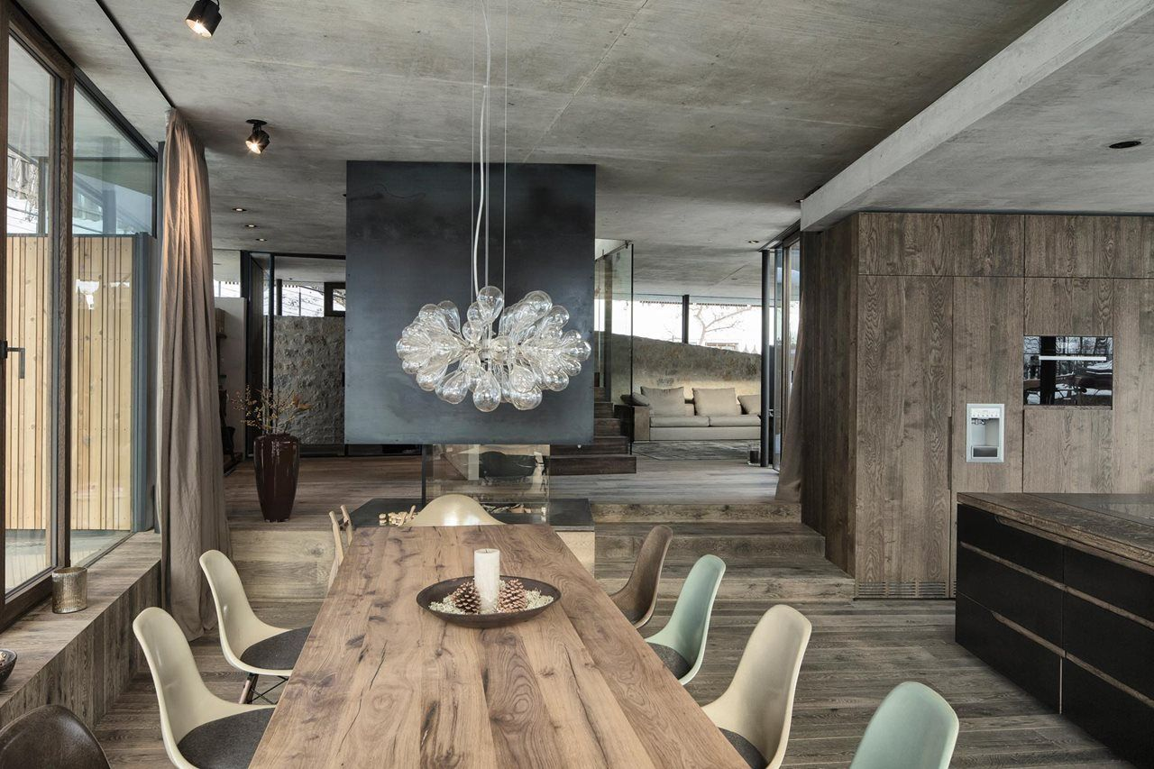 Znalezione obrazy dla zapytania concrete wood interior design ...