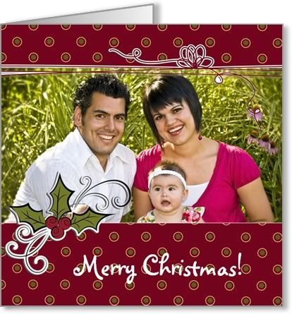Free Photo Insert Christmas Cards to Print at Home Card making