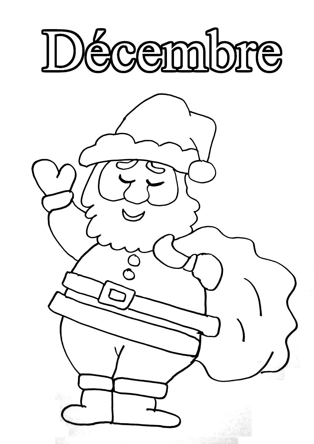 12 Decembre Coloriage Mois De L Annee Coloriages Pour Enfants Coloriage Enfant Coloriage Coloriage Educatif