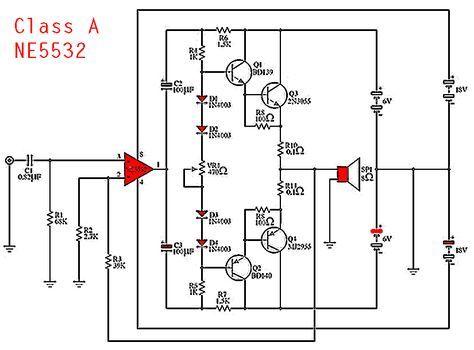 Ne5532 class a power amplifier circuit diagram anfi pinterest ne5532 class a power amplifier circuit diagram ccuart Gallery